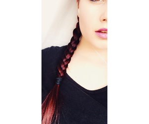 hairstyle, ling hair, and lips image