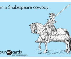 cowboy, horse, and shakespeare image