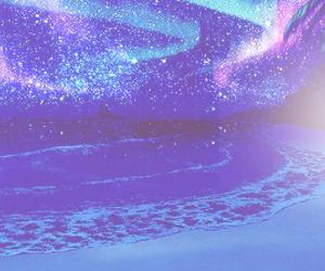 anime, beach, and blue image