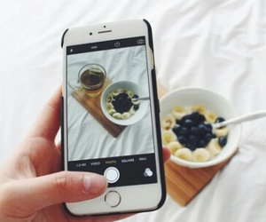 breakfast, iphone, and photo image