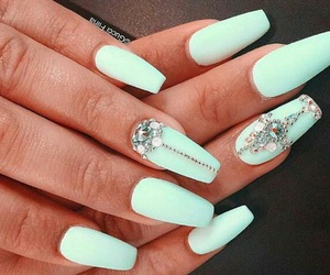 blue, girl, and nails image