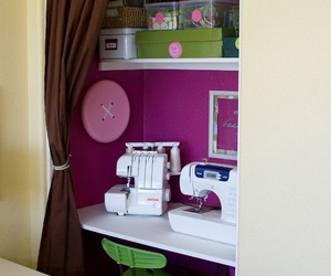 closet, sewing, and cute room image