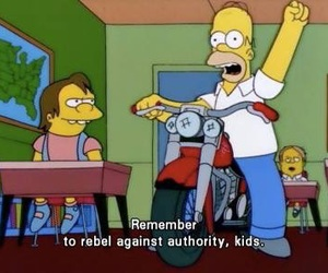 rebel, the simpsons, and simpsons image