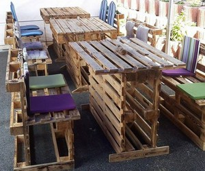 pallet recycled, reclaimed pallets, and pallet ideas image