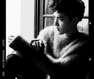 black and white, exo k, and taoris image