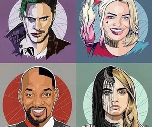 suicide squad, joker, and harley quinn image
