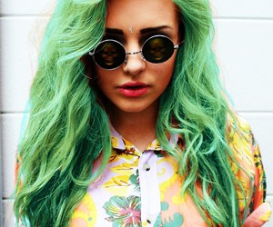 glasses, green, and hair image