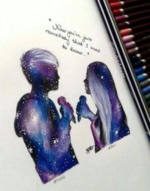 art, galaxy, and love image