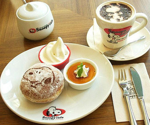 breakfast and snoopy image