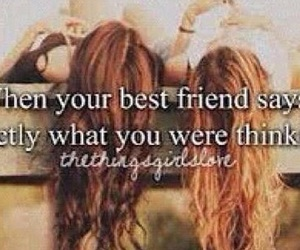 best friends, friends, and girls image