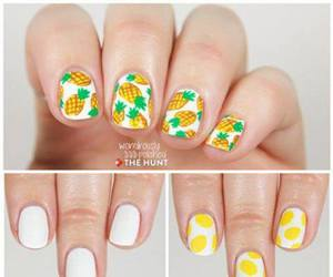 nails, pineapple, and tutorial image