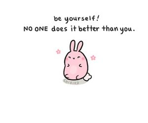 cute, bunny, and quotes image