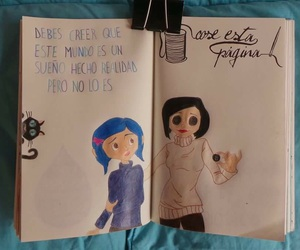 art, blue, and coraline image