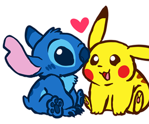 disney, pokemon, and pikachu image