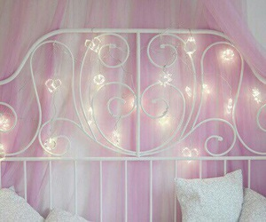 pink, bedroom, and light image