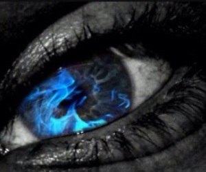 eyes and fire image