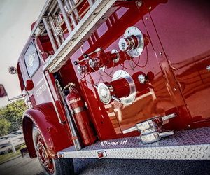 delaware, fire department, and fire engine image