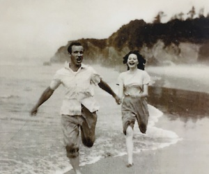 1950, 1950s, and beach image