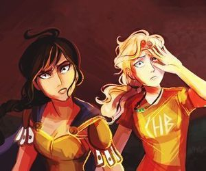 annabeth chase, Reyna, and percy jackson image
