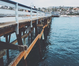 beach, pier, and summer image