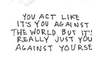 quote, world, and sad image