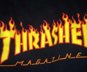 fire, Logo, and magazine image