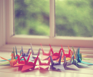 origami, Paper, and bird image