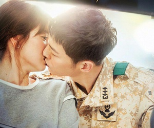 kiss and descendants of the sun image
