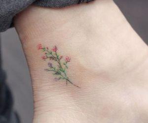 flower, girl, and leg image