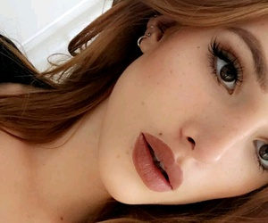 ginger hair, lipstick, and makeup image