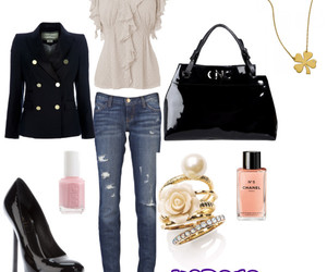 bag, high heels, and jeans image
