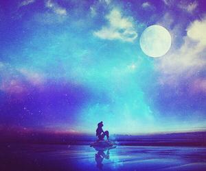 disney, ariel, and moon image