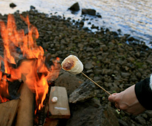 fire, photography, and food image