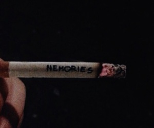 memories, cigarette, and smoke image
