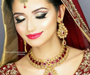 bridal, bride, and eyeshadow image