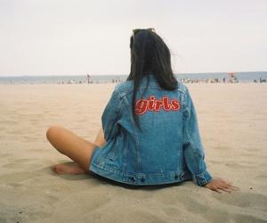 girl, beach, and grunge image