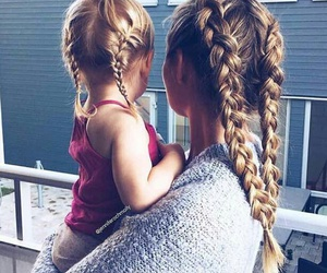 braids, little girl, and aesthetic image
