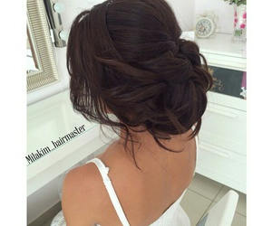 brunette, hair, and Prom image