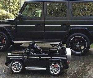 baby, toy car, and black image