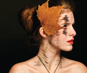 leaf, photography, and woman image