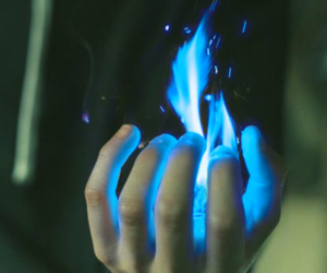 blue, bright, and fire image