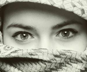 blackandwhite, eye, and eyeliner image