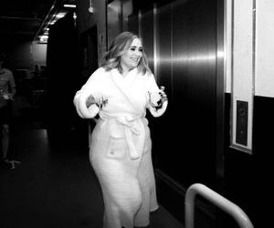 Adele and black & white image