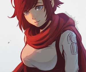 anime, art, and ruby rose image