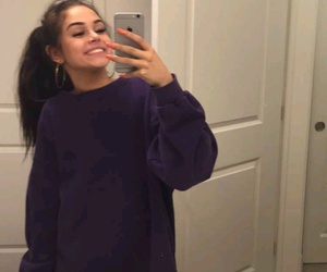 girl, maggie lindemann, and selfie image