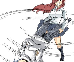 fairy tail, jerza, and anime image