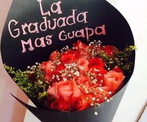 graduacion, flores, and rosas image
