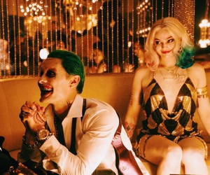 harley quinn, margot robbie, and jared leto image