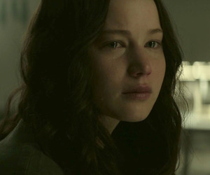 crying, Jennifer Lawrence, and the hunger games image