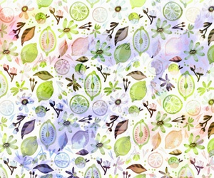 background, citrus, and floral image